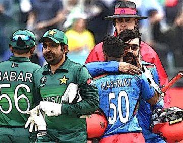 Pakistan vs Afghanistan in Worldcup Cricket Match