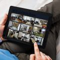 Home Security Surveiliance on Tablet