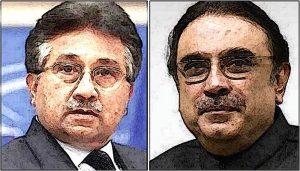 Musharaf and Asif Ali Zardari