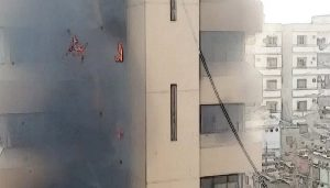 Sindh Secretariat on Fire