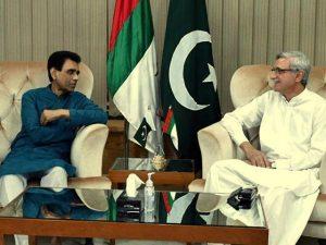 Khalid Maqbool and Jahangir Tareen
