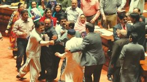 Opposition Protest in Assembly