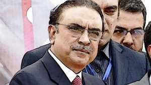 Asif Ali Zardari with Press