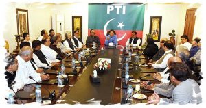 Imran Khan in PTI Meeting